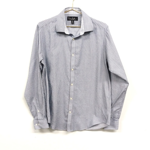 Nicole Miller Other - Nicole Miller Striped Blue Button Down